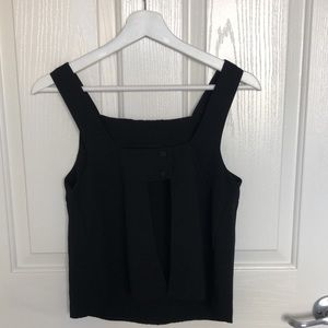 Black top with open back